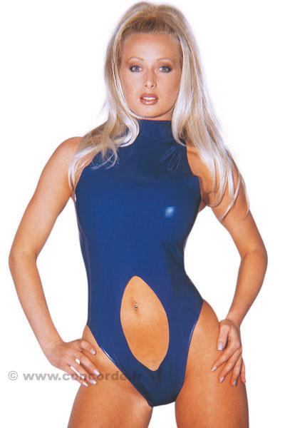 BODY LATEX BLEU