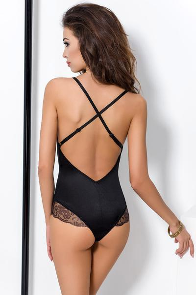 Body passion brida satin et dentelle noir