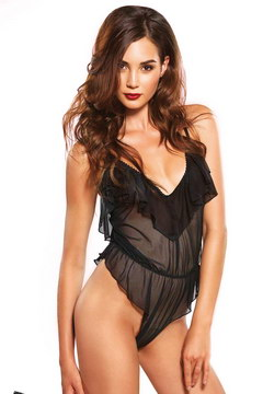 Body leg avenue flutter transparent noir