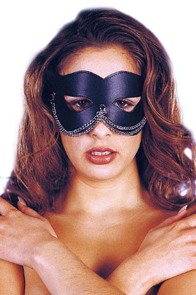 MASQUE CUIR CHAINETTE