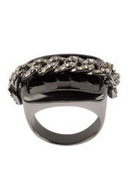 BAGUE CHAINE STRASS T.52