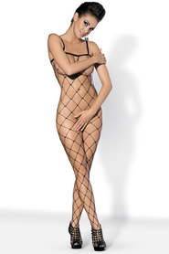 Bodystocking noir large filet obsessive