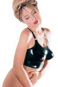 BUSTIER LATEX OUVERT