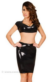 JUPE LATEX LACEE