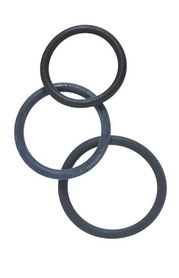Lot de 3 cockrings caoutchouc