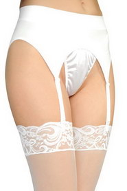 PORTE-JARRETELLE ANNE D'ALES RETRO PIN-UP BLANC