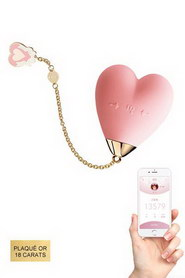 Stimulateur clitoridien connecté baby heart rose
