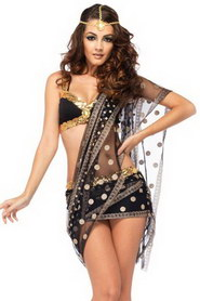 TENUE BOLLYWOOD TROIS PIECES LEG AVENUE