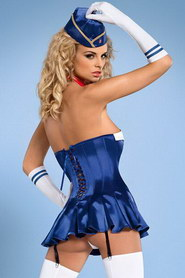TENUE HOTESSE STEWARDESS SIX PIECES OBSESSIVE
